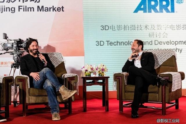 [影视工业网公开课]数字电影摄影技术对胶片的冲击 - 基努·里维斯对谈阿莱中国总经理刘森林