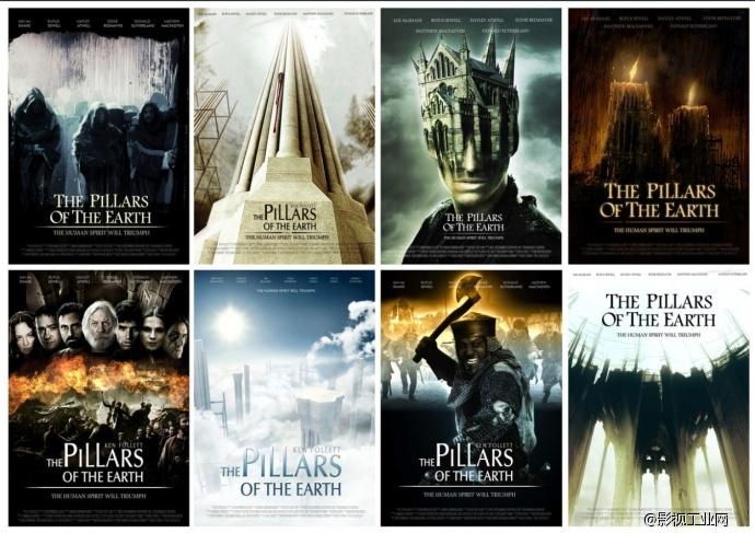 【电影标题的艺术】《圣殿春秋》(The Pillars of the Earth)拥有《权力的游戏》的野心和制作水准、手绘油画风格片头设计制作流程以及创作理念!