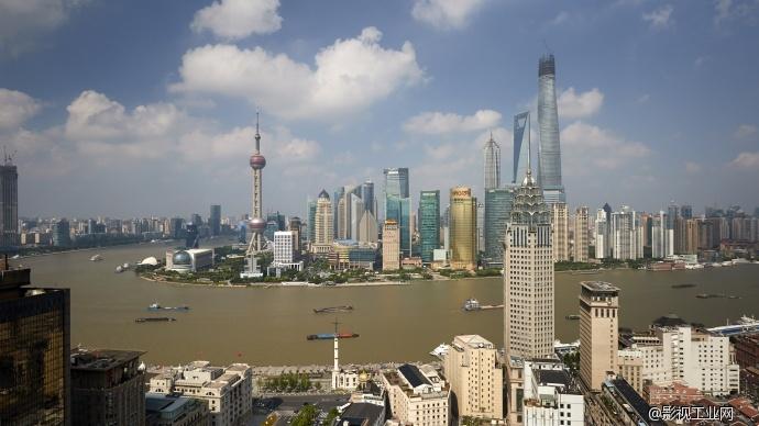 上海陆家嘴外滩天际线延时摄影