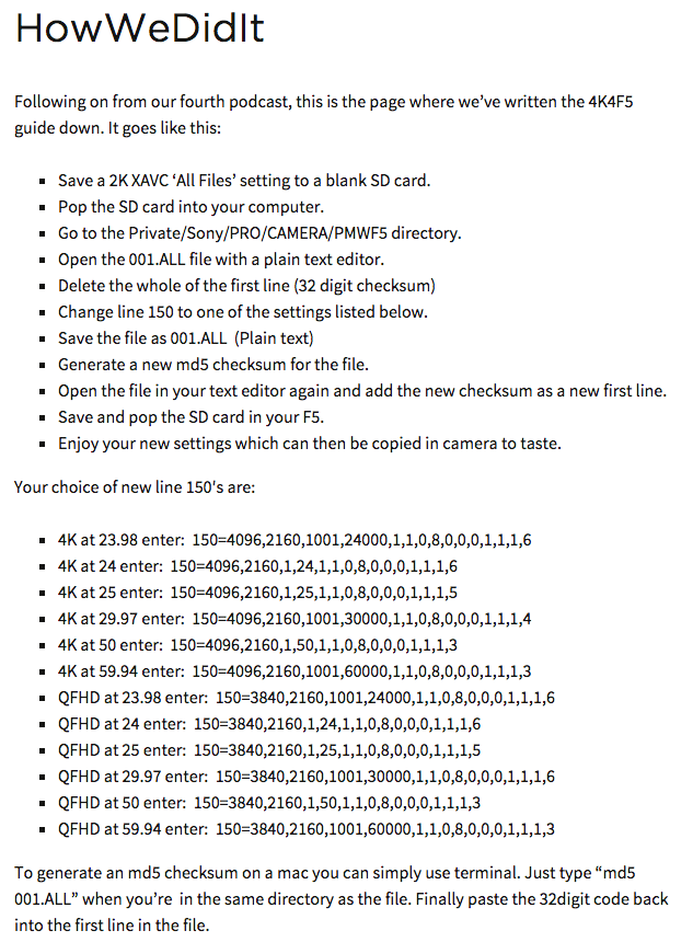 最新的一次破解证明索尼F5完全有能力达到4K机内录制,为毛被索尼禁用了?附破解教程