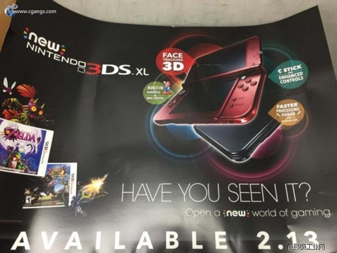 任天堂将于2月13日推出美版New 3DS/3DS LL