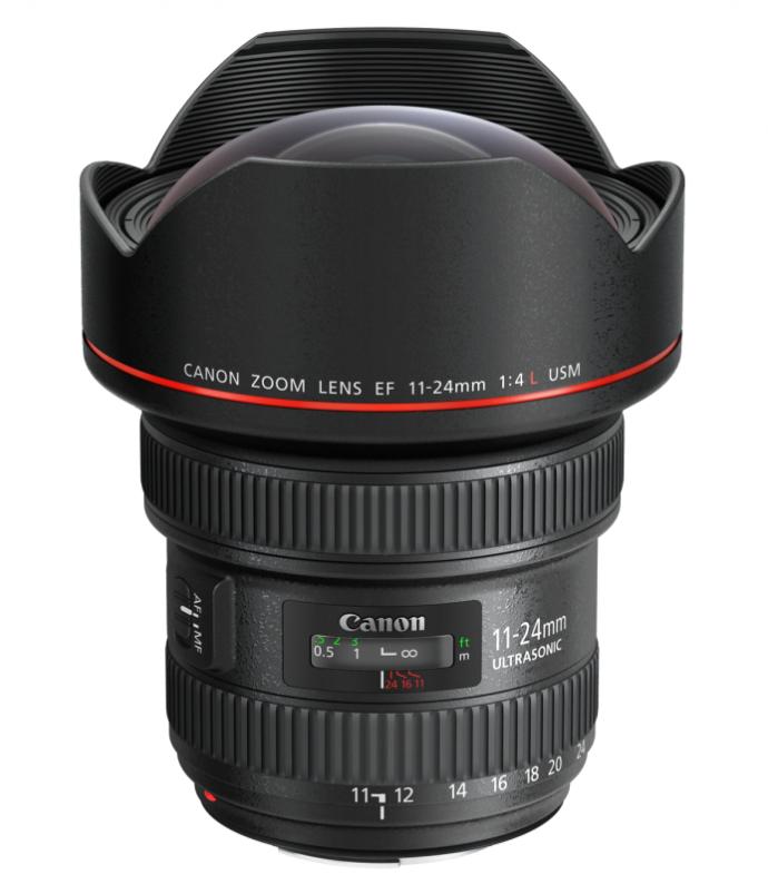 佳能发布L级超广角变焦镜头EF 11-24mm f/4L USM