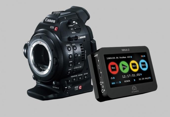 佳能CINEMA EOS史上最强促销强势来袭 买C100即赠ATOMS NINJA2记录仪