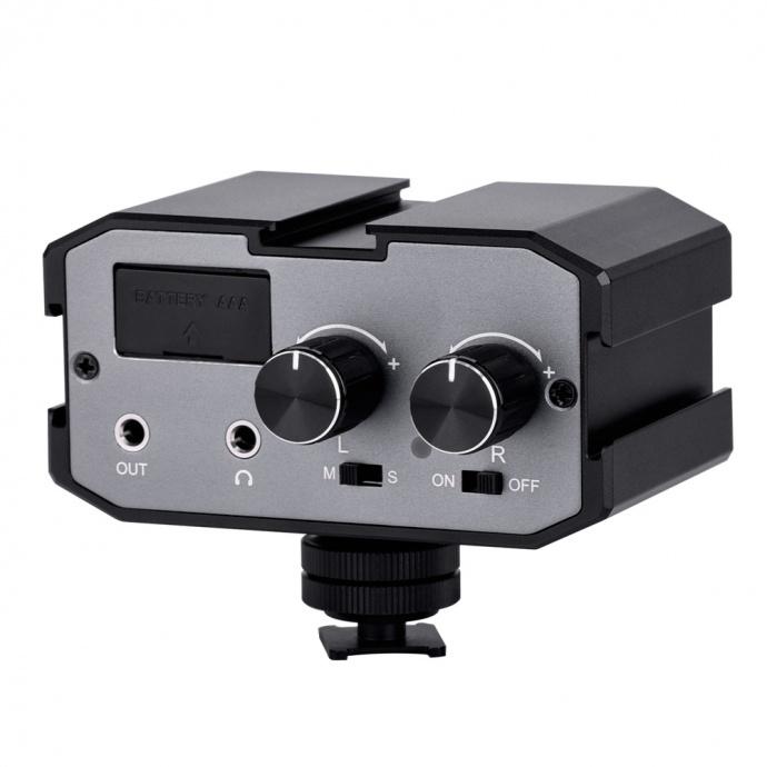 5mm双路音频麦克风混音器