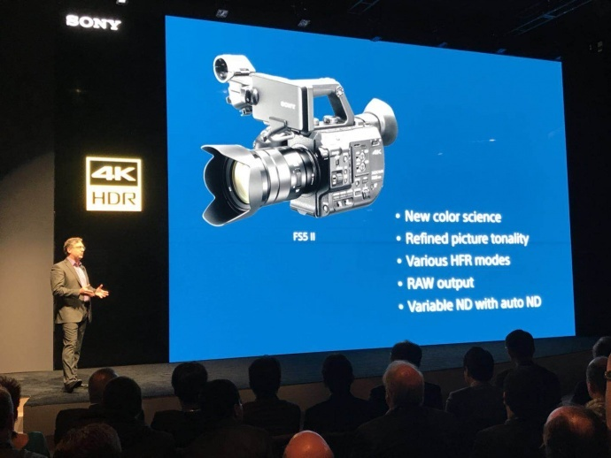 NAB 2018丨索尼发布FS5M2 4K摄影机,内置R