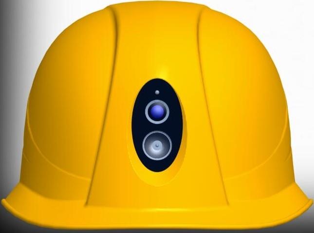 安全帽高清摄像机