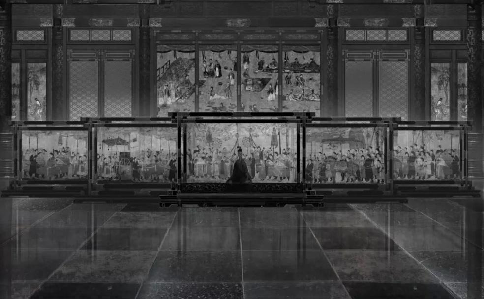 美术幕后 |《影》美术世界之第一章:沛良大殿,书法明志