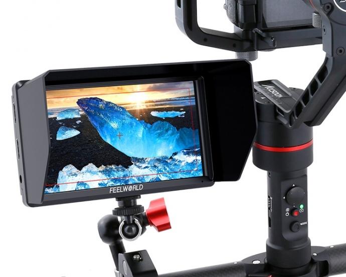 FEELWORLD富威德S55 新款5.5寸单反摄影摄像4K监视器 HDMI输入/输出 峰值辅助对焦单反摄像机外接4K摄影摄像监视器