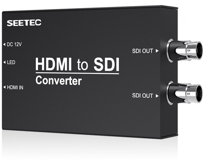SEETEC视瑞特HTS 视瑞特高清转换器HDMI转SDI,一路HDMI输入,二路SDI输出,视瑞特迷你广播级转换器,金属外壳设计,两种供电系统