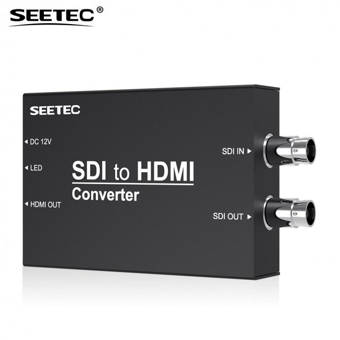 SEETEC视瑞特STH 视瑞特高清转换器SDI转HDMI,1路SDI输入,1路SDI环出,1路HDMI环出,视瑞特迷你广播级转换器,金属外壳设计,两种供电系统