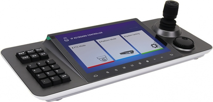 10寸四维矢量摇杆触控大屏网络多功能控制键盘