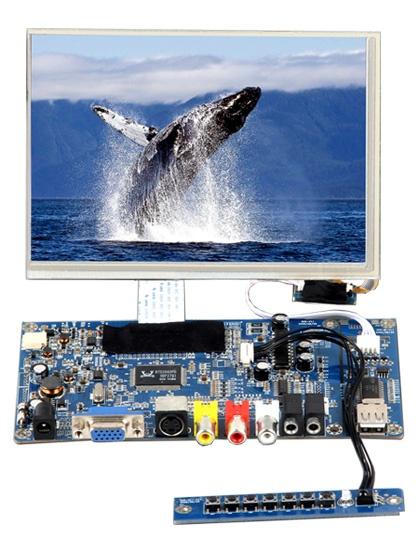 富威德 8寸800x600 TFT SKD液晶显示模组 SKD8VAT-3 带VGA/HDMI/AV接口 ATM机显示屏、机台显示器 富威德SKD8VAT-3 支持批量定制 厂家直销