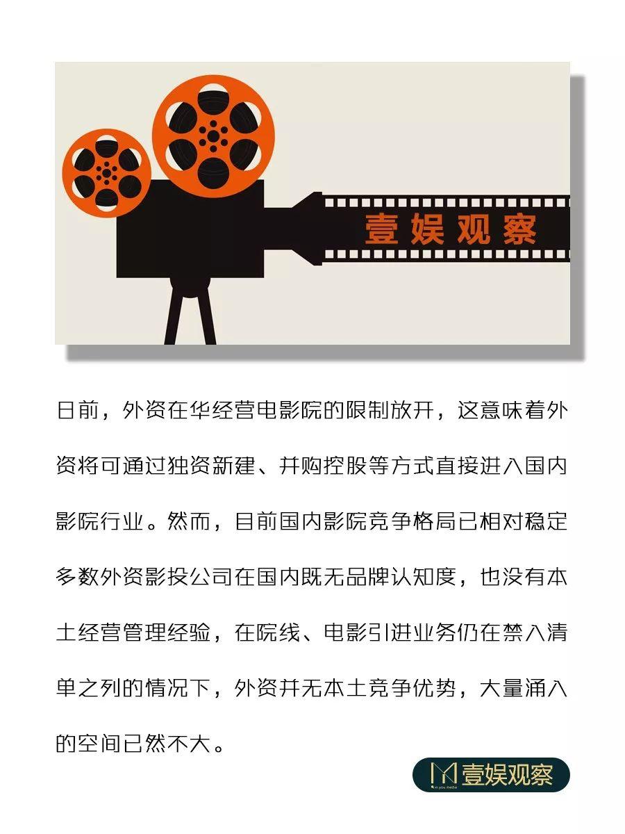 影院不是外资的生意