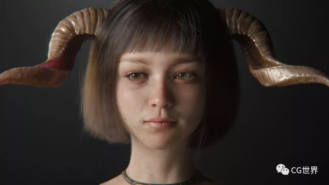 日本3D艺术家的Cinema 4D和Arnold女孩面部测试